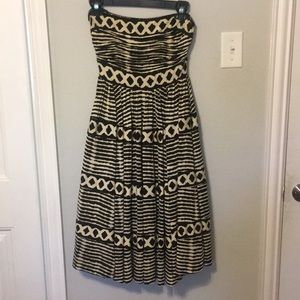 Anthropologie printed midi dress